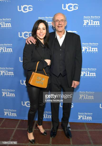 Jane Walker Wood and Christopher Lloyd attend the Virtuosos Award Presented By UGG during the 34th Santa Barbara International Film Festival at...