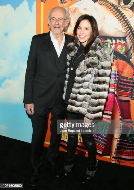 Jane Walker Wood and Christopher Lloyd attend Universal Pictures and DreamWorks Pictures' premiere of 'Welcome To Marwen' at ArcLight Hollywood on...