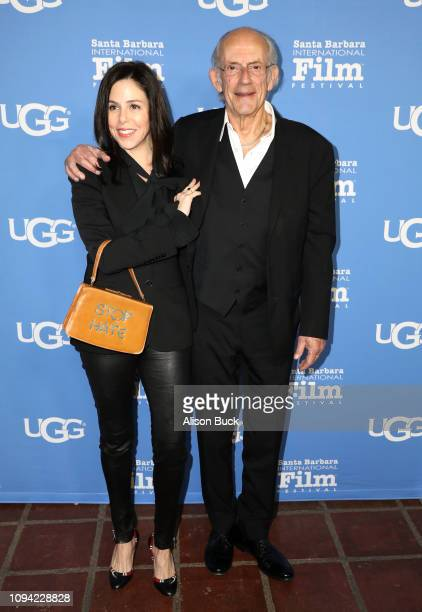 Jane Walker Wood and Christopher Lloyd attends the Virtuosos Award Presented By UGG during the 34th Santa Barbara International Film Festival at...