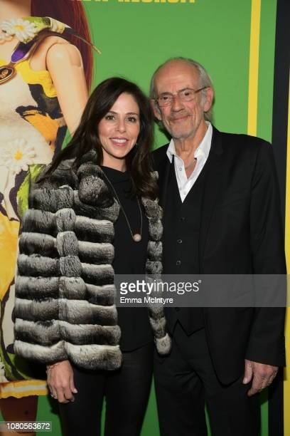 Jane Walker Wood and Christopher Lloyd attends Universal Pictures and DreamWorks Pictures' premiere of Welcome To Marwen at ArcLight Hollywood on...