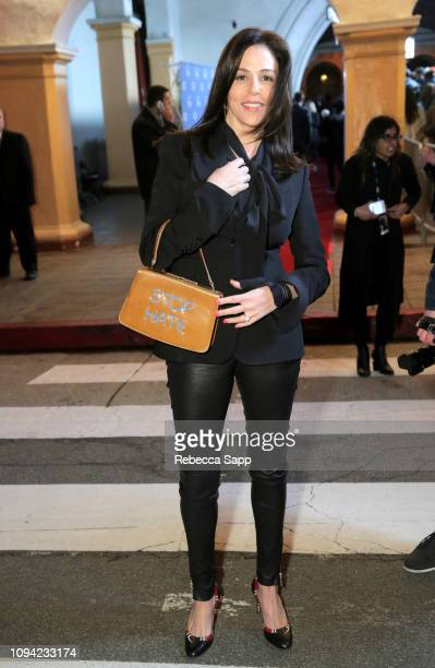 Jane Walker Wood with Michele Pred bag at the Virtuosos Award Presented By UGG during the 34th Santa Barbara International Film Festival at Arlington...