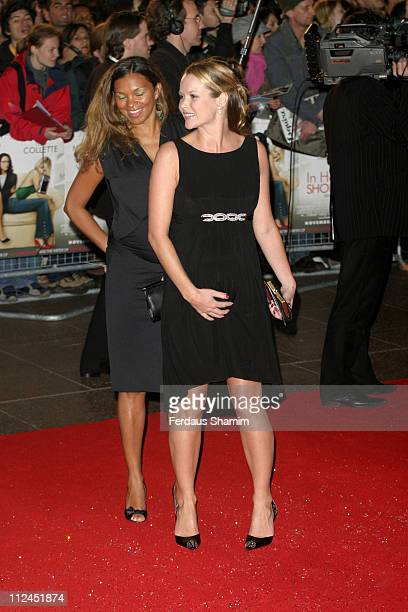 "Jane Wall and Amanda Holden during ""In Her Shoes"" London Premiere - Outside Arrivals at Empire Leicester Square in London, Great Britain."