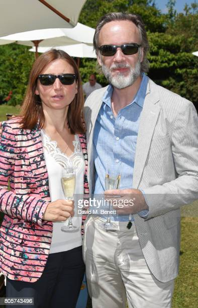 Jane Wareing and Marcus Wareing attend Cartier Style Et Luxe at the Goodwood Festival Of Speed on July 2 2017 in Chichester England