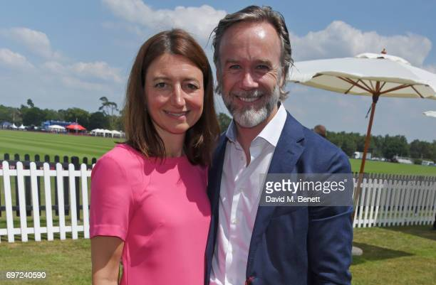 Jane Wareing and Marcus Wareing attend the Cartier Queen's Cup Polo final at Guards Polo Club on June 18 2017 in Egham England