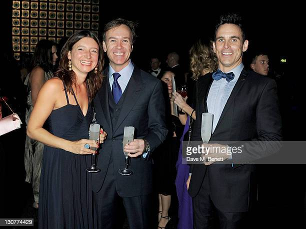 Jane Wareing Marcus Wareing and Paul McDonnell attend the Grey Goose Winter Ball to benefit the Elton John AIDS Foundation at Battersea Evolution on...