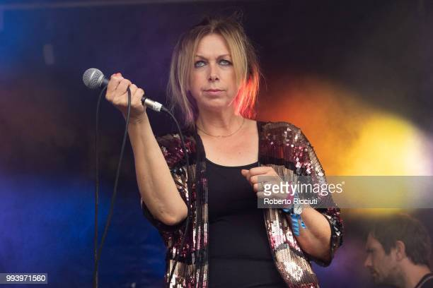 Jane Weaver performs on stage during TRNSMT Festival Day 5 at Glasgow Green on July 8 2018 in Glasgow Scotland