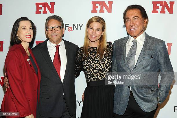 Jane Weitzman Stuart Weitzman Andrea Hissom and Steve Wynn attend 2012 Footwear News Achievement Awards at MOMA on November 27 2012 in New York City
