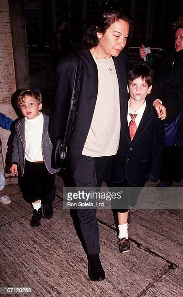 Jane Wenner and children during Jane Wenner Sighting Leaving a Performance of The Nutcracker Ballet December 4 1991 at Lincoln Center in New York...