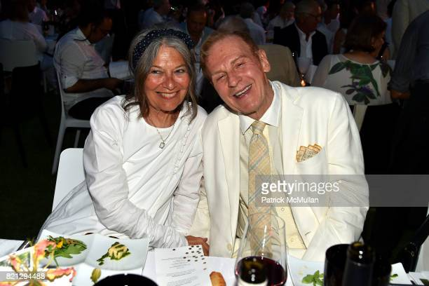 Jane Wenner and Robert Kleinschmidt attend Boom The Cosmic LongHouse Benefit at LongHouse Reserve on July 22 2017 in East Hampton New York