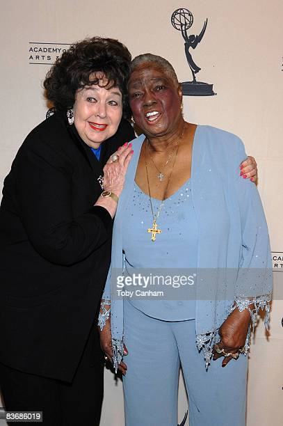 Jane Withers and Linda Hopkins pose for a picture at the premiere of 'Mitzi Gaynor Razzle Dazzle The Special Years' at the Leonard H Goldenson...