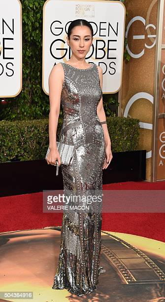 Jane Wu arrives at the 73nd annual Golden Globe Awards January 10 at the Beverly Hilton Hotel in Beverly Hills California AFP PHOTO / VALERIE MACON /...