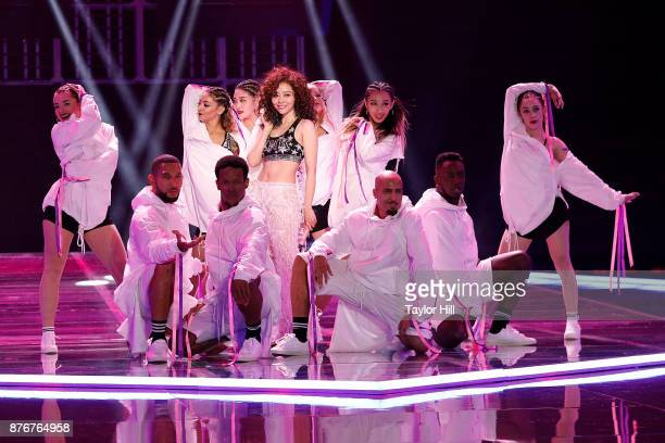 Jane Zhang performs during the 2017 Victoria's Secret Fashion Show at MercedesBenz Arena on November 20 2017 in Shanghai China