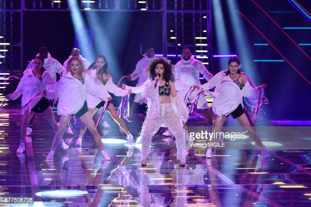 Jane Zhang walks the runway at the 2017 Victoria's Secret Fashion Show In Shanghai Show at MercedesBenz Arena on November 20 2017 in Shanghai China