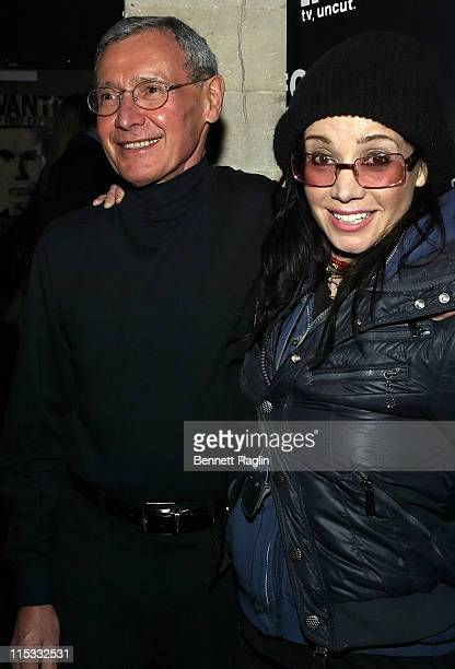 Janeane Garofalo and father during It's Not a Play and There's No Music Featuring Janeane Garofalo Henry Rollins and Marc Maron at Gramercy Theatre...