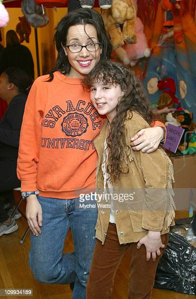 Janeane Garofalo and Hallie Kate Eisenberg during Second Annual Children's Day Artrageous at Metropolitan Pavillion in New York City New York United...