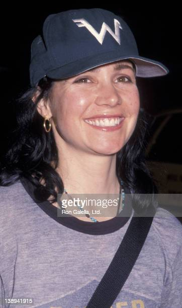 "Janeane Garofalo attends the premiere of ""Where The Money Is"" on April 3, 2000 at Loew's 42nd Street East Theater in New York City."