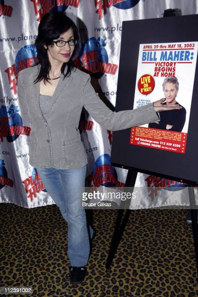 Janeane Garofalo during Bill Maher Victory Begins at Home Party at Virginia Theatre in New York City New York United States