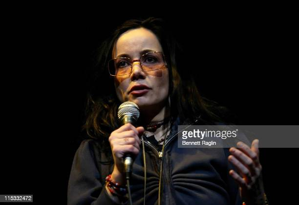 Janeane Garofalo during It's Not a Play and There's No Music Featuring Janeane Garofalo Henry Rollins and Marc Maron at Gramercy Theatre in New York...