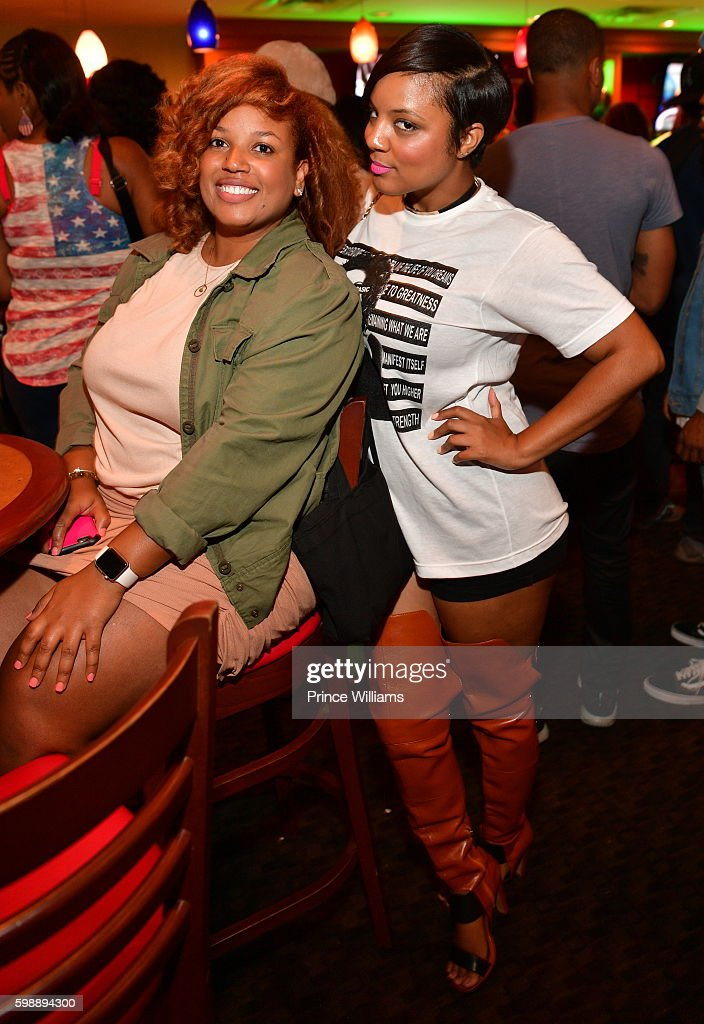 Janee Bolden and Tahira Joy attend LudaDay Weekend: Celebrity Bowling Tournament at Bowlmar Lanes on September 2, 2016 in Atlanta, Georgia.