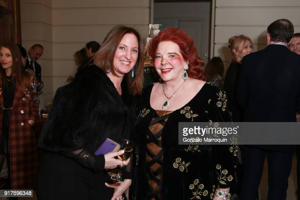 Janeen Saltman and Baroness von Langendorff during the Susan Gutfreund Hosts UN Women For Peace Association Reception on February 12 2018 in New York...