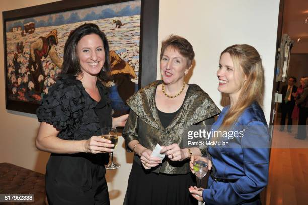Janeen Saltman Maria Ann Conelli and Christine Corcoran attend Laura and Richard Parsons Host the Celebration of The AMERICAN FOLK MUSEUM'S Advocates...
