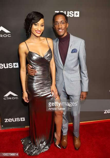 Janeisha John amd Lemuel Plummer attend the ZEUS New Series Premiere Party X CIROC Black Raspberry on October 19 2018 in Burbank California