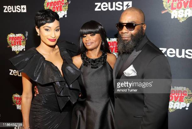 Janeisha John Tokyo Toni and Nathan Brumfield attend Tokyo Toni's Finding Love ASAP Los Angeles premiere at AMC Theaters Universal City Walk on...