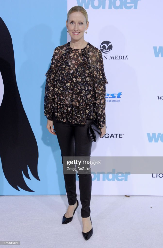 Janel Moloney arrives at the premiere of Lionsgate's 'Wonder' at Regency Village Theatre on November 14, 2017 in Westwood, California.