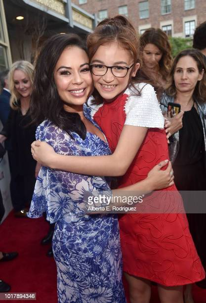 Janel Parrish and Anna Cathcart attend a screening of Netflix's 'To All The Boys I've Loved Before' at Arclight Cinemas Culver City on August 16 2018...