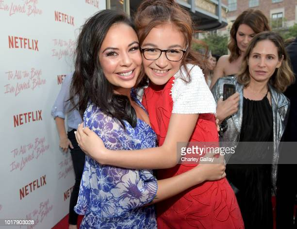 Janel Parrish and Anna Cathcart attend Netflix's 'To All the Boys I've Loved Before' Los Angeles Special Screening at Arclight Cinemas Culver City on...