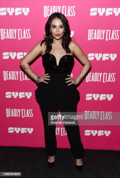 """Janel Parrish arrives at SYFY's new series """"Deadly Class"""" premiere screening at The Roxy Theatre on January 03, 2019 in West Hollywood, California."""