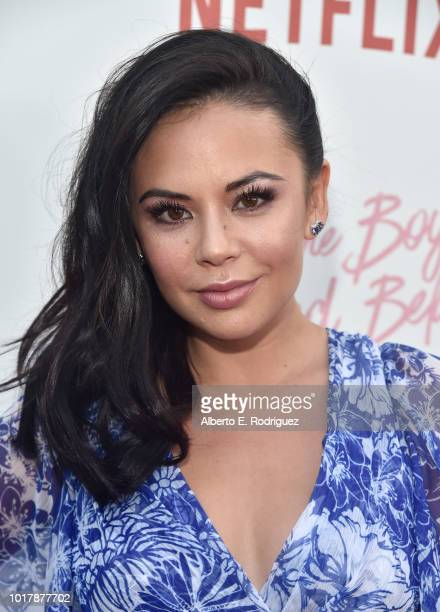 """Janel Parrish attends a screening of Netflix's """"To All The Boys I've Loved Before"""" at Arclight Cinemas Culver City on August 16, 2018 in Culver City,..."""