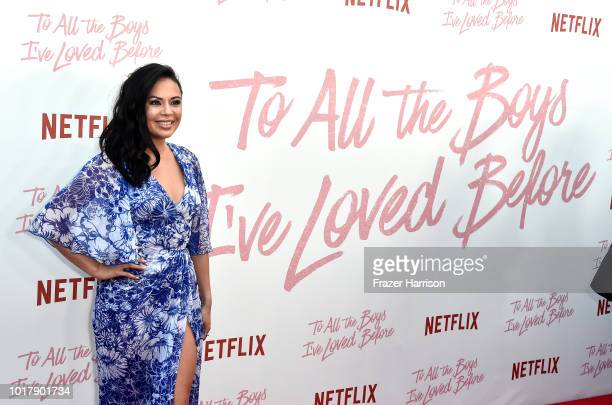 Janel Parrish attends the Screening Of Netflix's To All The Boys I've Loved Before Arrivals at Arclight Cinemas Culver City on August 16 2018 in...