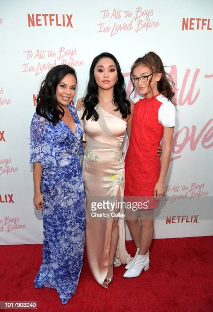 Janel Parrish Lana Condor and Anna Cathcart attend Netflix's 'To All the Boys I've Loved Before' Los Angeles Special Screening at Arclight Cinemas...
