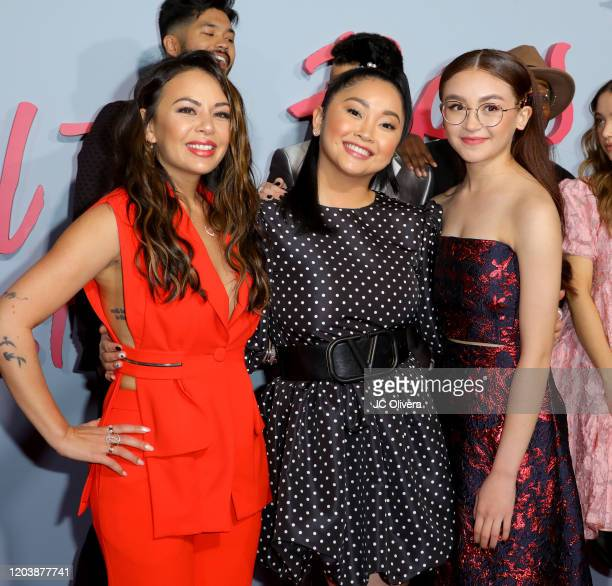 Janel Parrish Lana Condor and Anna Cathcart attend the Premiere of Netflix's To All The Boys PS I Still Love You at the Egyptian Theatre on February...