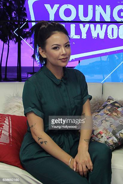 January 13: Janel Parrish visits the the Young Hollywood Studio on January 13, 2017 in Los Angeles, California.