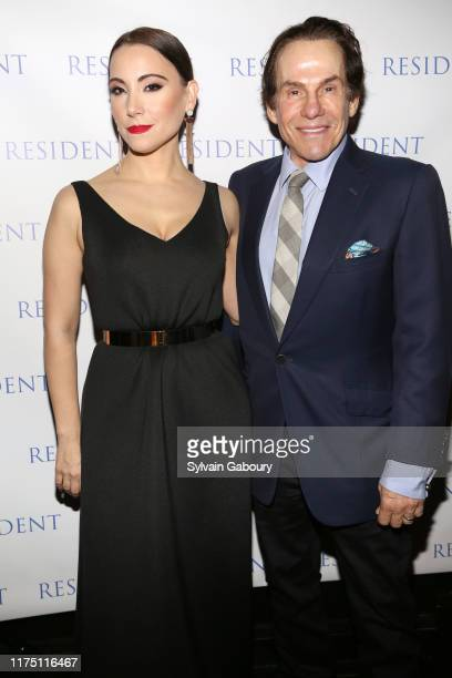 Janel Tanna and R Couri Hay attend Janel Tanna's Cover Party By Resident Magazine at Philippe Chow on October 9 2019 in New York City