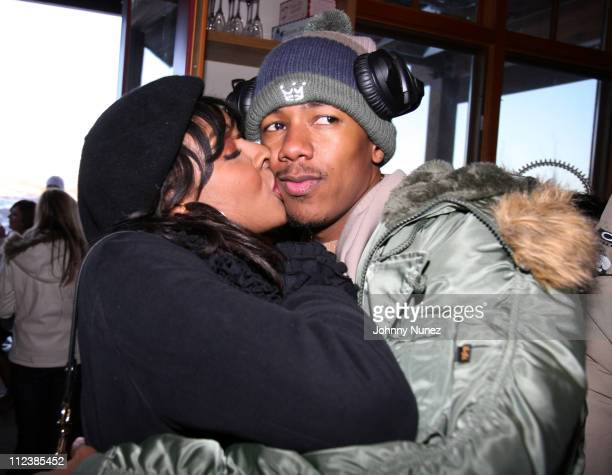 Janell Snowden and Nick Cannon during 2007 Park City Complex Magazine and DC Shoes Snow Boarding Park and Gifting Lounge with Nick Cannon at Private...