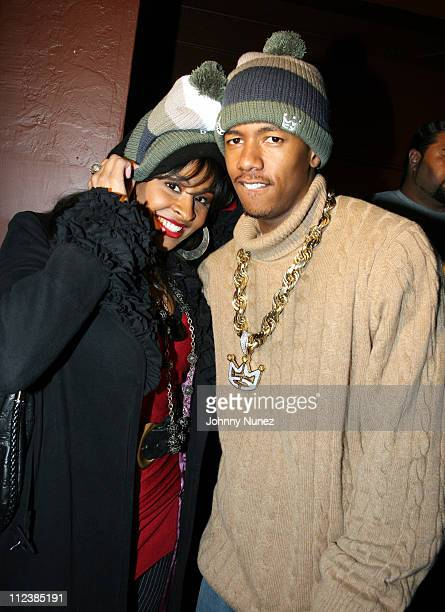Janell Snowden and Nick Cannon during 2007 Park City Weapons Premiere Party Hosted by Damon Dash at Marquee Harry O's Complex in Park City Utah...