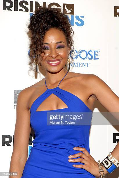 Janell Snowden attends Grey Goose Entertainment and BET's Rising Icons event at 1OAK on July 27 2009 in New York City