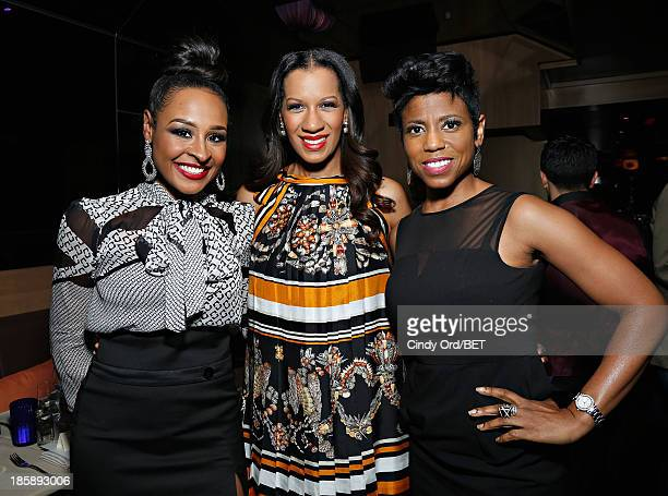 Janell Snowden Dr Michelle Callahan and Jackie Reed attend the 2013 Black Girls Rock Shot Callers Dinner on October 25 2013 in New York City