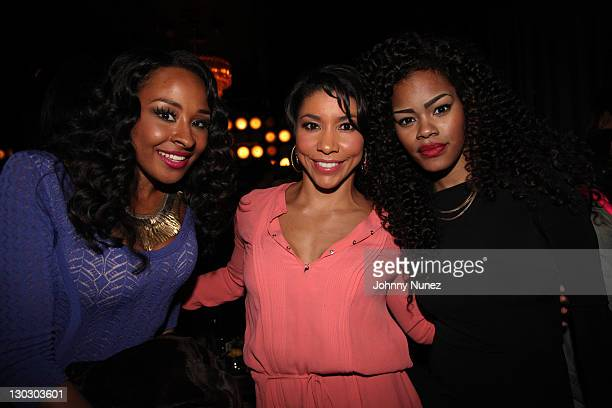 Janell Snowden Jeanette Jenkins and Teyana Taylor attend a conversation with Tower Heist at the Dream Hotel on October 25 2011 in New York City