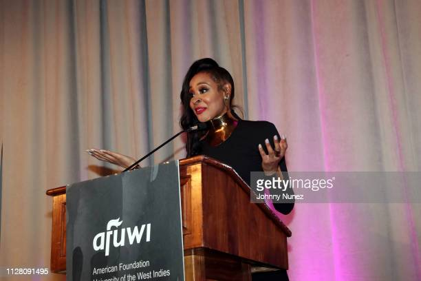 Janell Snowden speaks at the AFUWI 22nd Annual Legacy Awards Gala at The Pierre Hotel on February 27 2019 in New York City