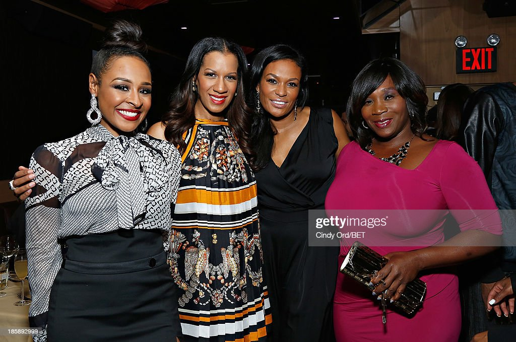 Janell Snowdon, Dr. Michelle Callahan, Beverly Bond and Bevy Smith attend the 2013 Black Girls Rock Shot Callers Dinner on October 25, 2013 in New York City.