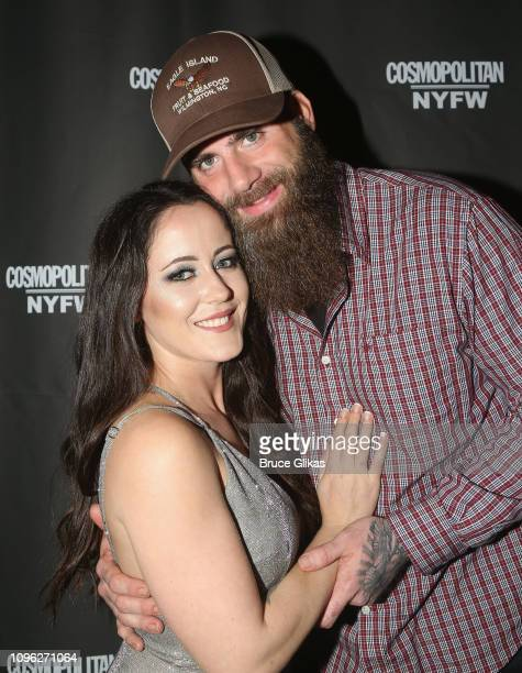 Janelle Evan and David Eason pose at the Cosmopolitan New York Fashon Week #Eye Candy event After Party at Planet Hollywood Times Square on February...