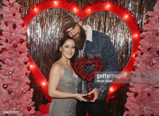 Janelle Evans and David Eason pose at The Planet Hollywood Valentine's Wonderland at the Cosmopolitan New York Fashon Week #Eye Candy event After...