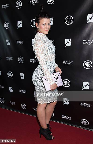 Janelle Ginestra attends the 2nd Annual BuildaBEAST Experience at Sheraton Fairplex Hotel Conference Center on July 20 2016 in Pomona California