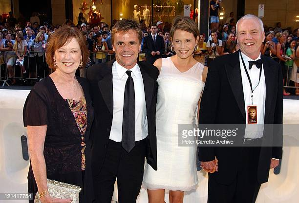 Janelle Kidman, Angus Hawley, Antonia Kidman and Antony Kidman arrive for the Australian premiere of the film 'Cold Mountain' at the State Theatre on...