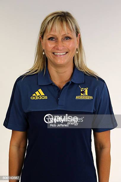 Janelle Miskimmin Administration Assistant of the Highlanders poses for a portrait on January 22 2016 in Dunedin New Zealand