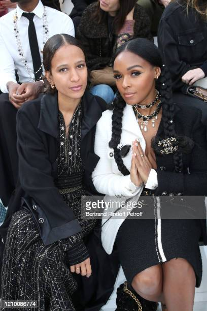 Janelle Monae and a guest attend the Chanel show as part of the Paris Fashion Week Womenswear Fall/Winter 2020/2021 on March 03 2020 in Paris France